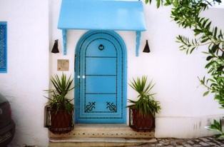 photo architecture arabe sidi bou said
